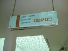 Wayfinding- Ceiling sign - Shopping Palladium - São Paulo (SP) - Brazil # Brazilian design
