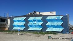Christchurch NZ Street Art - 'Top end of High Street where Westpac building was, at the back of old bus exchange and food court' Food Court, Stand Tall, Street Art, Artsy, Colours, World, Building, Top, Life