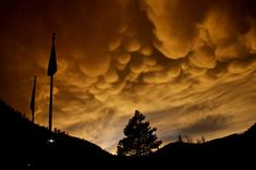 Mammatus Clouds Over Olympic Valley  http://www.flickr.com/photos/53845452@N05/13167799503/lightbox/