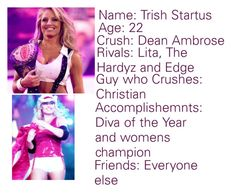 """""""Trish Stratus"""" by thefuturemrsambrose ❤ liked on Polyvore featuring TNA"""