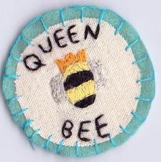 Queen Bee Patch by Hanecdote on Etsy, £5.00