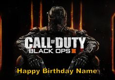 Call of Duty Black Ops 3 Edible Image Cake by SpinnakerStyles