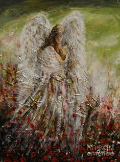 Spring Angel by Dariusz Orszulik Angel Pictures, Art Pictures, Angels In Heaven, Heavenly Angels, Angels Among Us, Fantastic Art, Awesome, Stone Crafts, Book Cover Art