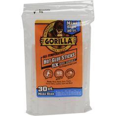 Gorilla Hot Glue Gun Sticks, 4 inch, 30-Count, Mini Size