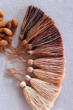50 PCS CottonTassels, Morocco Style Bohemian Tassel,Batik Art Tassels, Jewelry Making, DIY Craft Supplies, Colorful Fringe,Batik Tassel