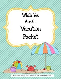 Do you have students who travel during the school year? It can be a challenge to pull together 1-2 weeks of work in advance.  With these printables, your student will complete a daily reading response that is open ended for any book plus keep a travel journal to record words and pictures about their trip.  Look at the preview photos.
