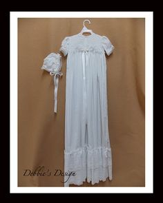 CG01 Free Shipping OOAK Christening Gown by DebbiesDesign on Etsy, $95.00