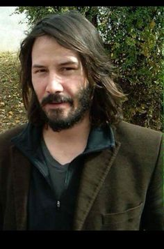 Keanu and his beautiful hair.