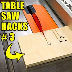5 Quick Table Saw Hacks Part 3 #woodworking #lifehack