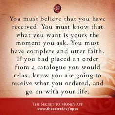 You must believe