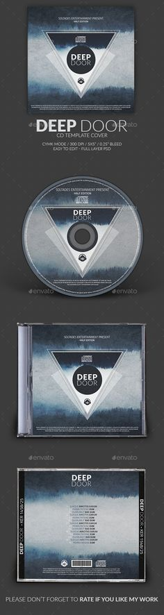 PSD  Deep Door CD Cover Template  • Only available here ➝ http://graphicriver.net/item/deep-door-cd-cover-template/11725486?ref=pxcr