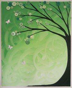 button tree wall art