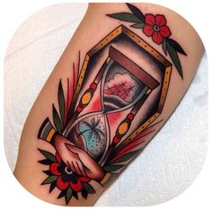 Hour Glass Becca Genné-Bacon The End Is Near/Hand of Glory Tattoo Brooklyn New York