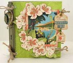@Graphic 45® Tropical Travelogue mini-Album with Doorplate binding.