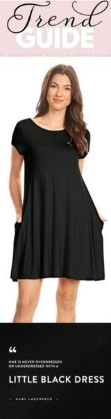 Simlu Womens Long Bell Sleeve Short Shift Dress - Made In USA $12.99 - $18.99