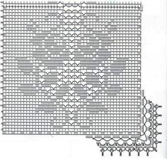 Crochet and arts: Filet crochet wipes Crochet Table Runner Pattern, Crochet Snowflake Pattern, Crochet Motif Patterns, Filet Crochet Charts, Crochet Tablecloth, Crochet Diagram, Crochet Doilies, Crochet Curtains, Crochet Cushions