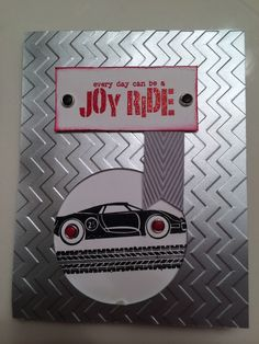 Great guy card. Stampin up