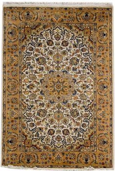 Kashan rugs are most famous of Persian carpet design for their expansive floral patterns and all-over Shah Abbas field. Kashan in its actuality is a city in central Iran, with a long history of carpet making dating back to 16th century. http://www.alrug.com/3790