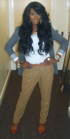 "brokeandboujie: "" isnt she gorg? ..the nigerian kim kardashian """