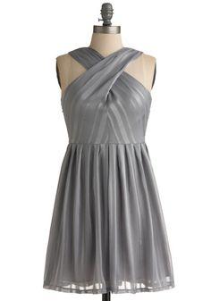 #steel #gray dress for a Zeta Tau Alpha #ZTA