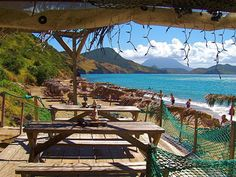 St Kitts And Nevis Beaches | Shipwreck Beach bar and Photo Gallery St Kitts