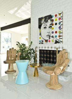 Midcentury hand chairs