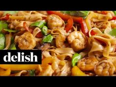 Best Shrimp Drunken Noodles Recipe - How to Make Shrimp Drunken Noodles