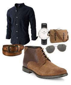 Dress boots with waxed cotton shoelaces. Uniqlo, Daniel Wellington, Black And Brown, Men's Shoes, Outfit Ideas, Menswear, Van, Shoe Bag, Boots