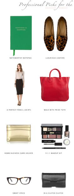 Career Girl Must Haves (we'd add a great watch to that list!)