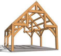 16x24 Hammer Beam Pavilion - Timber Frame HQ