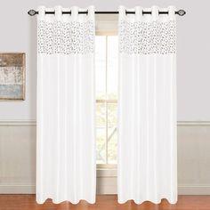 Lavish Home Karla Laser Cut Grommet Single Curtain Panel & Reviews | Wayfair