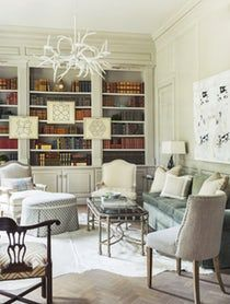 Houston, TX, Study with Custom Millwork   Library  TraditionalNeoclassical  Eclectic  Transitional by Chapman Design