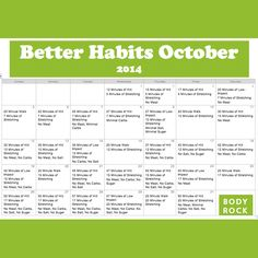 1 Month to Better Habits