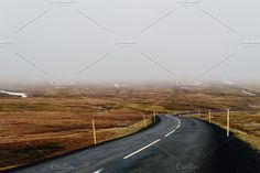 The open Road (Iceland Roadtrip) by PhotoMarket on Iceland Photos, Business Illustration, Watercolor Cards, Nature Photos, Creative Photography, Travel Posters, Pond, Road Trip, Country Roads