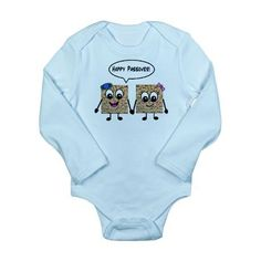Happy Passover Matzot Onesie : For tots too small to dress up for the meal, this Happy Passover Matzot Onesie