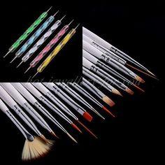 20pcs Nail Art Brush Dotting Pen Set Tip Manicure Tool Professional Decoraction