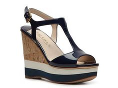 Prada Patent Leather Wedge Sandal Womens Wedge Sandals Sandals Womens Shoes - DSW