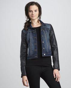 Paige Denim Coated Sleeve Jacket Paige