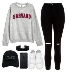"""""""I'm free to be the greatest here tonight"""" by feel-like-infinity ❤ liked on Polyvore featuring H&M, New Look, Yves Saint Laurent and Nasaseasons"""