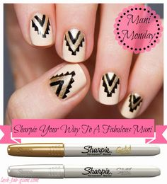 Lush Fab Glam Blogazine: Mani Monday: Sharpie Your Way To A Fabulous Manicure.