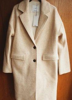 Kup mój przedmiot na #vintedpl http://www.vinted.pl/damska-odziez/plaszcze/15575665-mango-welniany-plaszcz-oversize-xs-s-nude-boyfriend-34-36