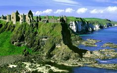 Europe, castle, ireland, wallpapers, antrim, county, dunluce - 698808