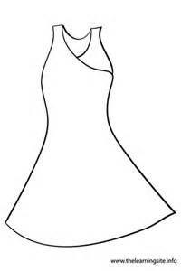 Fancy Dress Coloring Page
