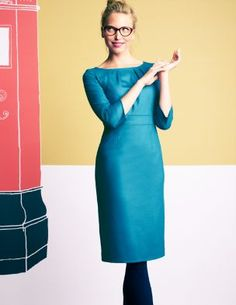 I adore this beautiful duck egg blue! And the dress is made of wool - the quality and design of Johnny Boden is nigh unbeatable.