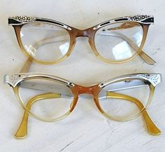 93a5574ba1 Vintage 1950s Cat Eye Glasses - Love these Vintage Cat