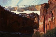 Snow Graces the Stone (Zion Park) by Dilleen Marsh Oil ~ 24 inches x 34 inches