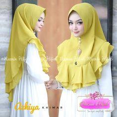 Jual Jilbab Instan Khimar Qimara Simple Pesta 2019 - Her Crochet Abaya Fashion, Blazer Fashion, Muslim Fashion, Skirt Fashion, Fashion Outfits, Cara Hijab, How To Wear Hijab, Dress Sewing Tutorials, Hijab Style Tutorial