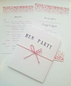 The Mrs Makes: ~DIY~ Hen Party Invitations