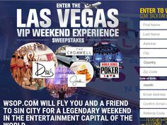 Enter the WSOP.com Las Vegas Drawing Sweepstakes for a chance to win a 3-night trip for two to Las Vegas, NV!