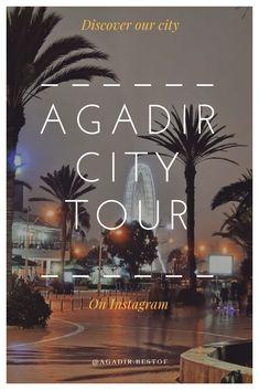 #agadir #tours #visitagadir #morocco #marruecos #maroc #tourism #travel Morocco Travel, Africa Travel, Agadir Morocco, Road Trip, Tours, City Break, Travel Goals, Casablanca, Travel Guide